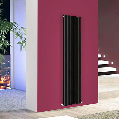 1800x408mm Vertical Flat Panel Designer Radiator Heating Rads Bathroom Black