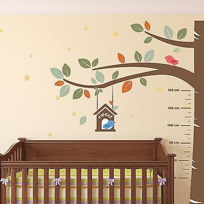 Measurement Baby Wall Stickers Decal Nursery Sweet Birds Kids 270cm x 220cm