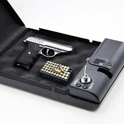 Portable Biometric Fingerprint Gun Pistol Safe Handgun Safe Lock Box Security