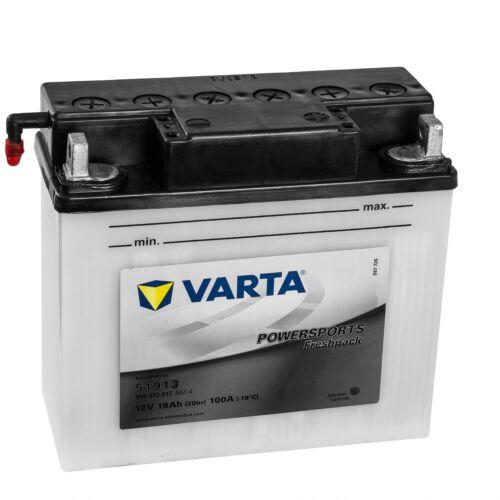 Varta Powersports Motorrad Batterie Starter 51913 519013017A514 12V 19Ah