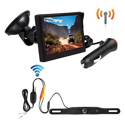 Wireless Backup Camera and Monitor Kit License Plate Rear View Camera Waterproof