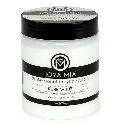 (JOYA MIA Professional Pure Super White Acrylic Nail Powder 8oz Made in the USA)
