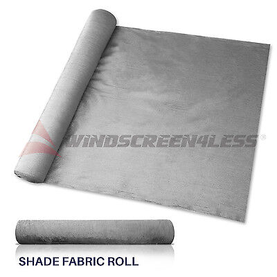 (Custom 12' Gray Fabric Roll Fence Privacy Sun Wind Screen UV Block Shade Cloth)