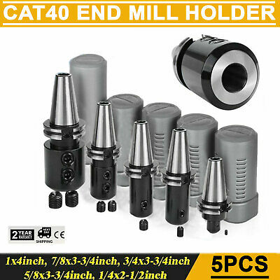 Cat40 End Mill Holders Coolant Thru 5 Pcs Of Any Sizes -new Tool Holder Set Us