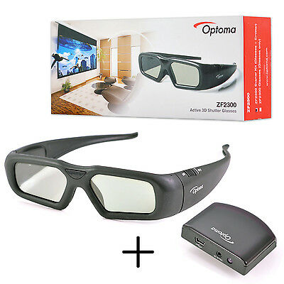 Original Optoma Active Shutter 3D Glasses ZF2300 Starter Kit with Emitter US - 3 D Glasses