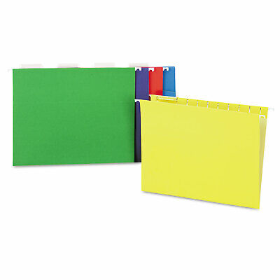 Universal Hanging File Folders 15 Tab 11 Point Letter Assorted Colors 25box