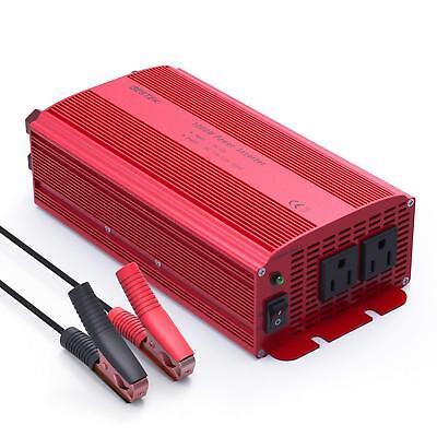 BESTEK 1000W Car Power Inverter 12V DC to 110V AC Charger Power Supply Adapter 12v Ac To 120v Adapter