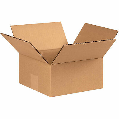 7 X 7 X 3 Flat Cardboard Corrugated Boxes 65 Lbs Capacity Ect-32 Lot Of 25