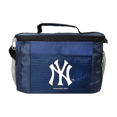 New York Yankees Insulated Cooler Zipper Lunch Bag Box Tote 6 Pack NWT Baseball