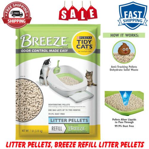 Purina Tidy Cats Litter Pellets, Pouch BREEZE Refill Litter Pellets, 7 lbs, Gray