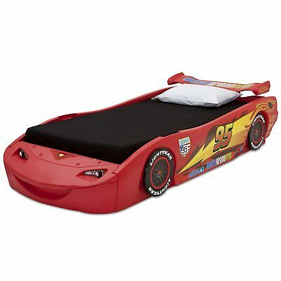 Cars Lightning Mcqueen Childrens Bed Kids Furniture Twin Size Race Car Low Safe  Lightning Mcqueen Furniture