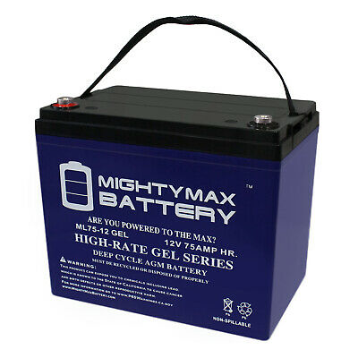 Mighty Max 12V 75AH GEL Battery Replacement for Advanced Technology All Models