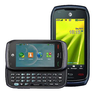 Pantech Vybe P6070 AT&T (GSM UNLOCKED) Slider QWERTY Keyboard Phone Black
