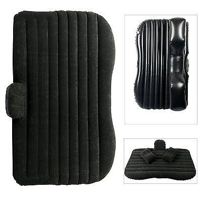 Car Travel Inflatable Mattress Bed Camping +Two Air Pill & Pump - Black- BM