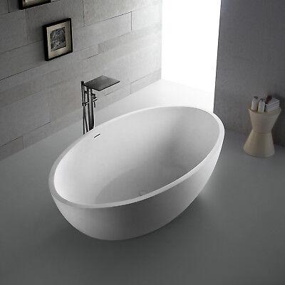 Freistehende Badewanne aus Mineralguß Solid Stone Farbe weiß matt 188 cm 11911 (Stone Freistehende Badewanne)