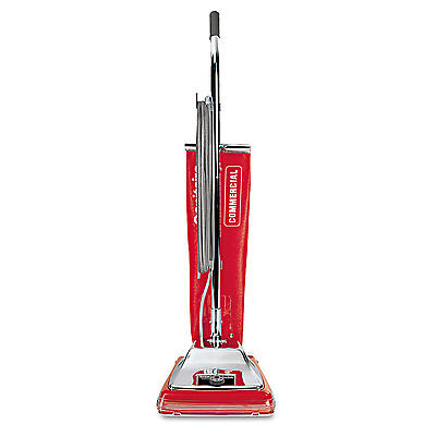 Sanitaire Quick Kleen Commercial Upright Vacuum With Vibra-groomer Ii 17.5lb Red
