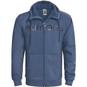 New NWT Burton Bonded Hooded Sweatshirt - Full Zip Mens