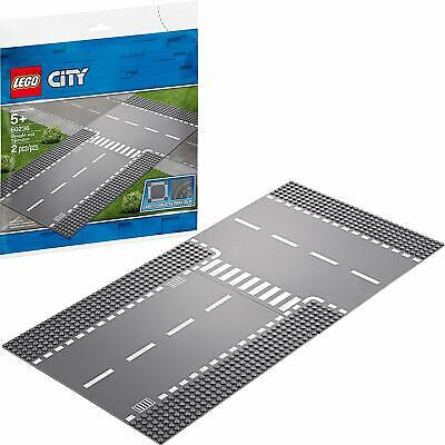 LEGO City 60236 Straight and T-Junction Baseplate Set (2 pcs)