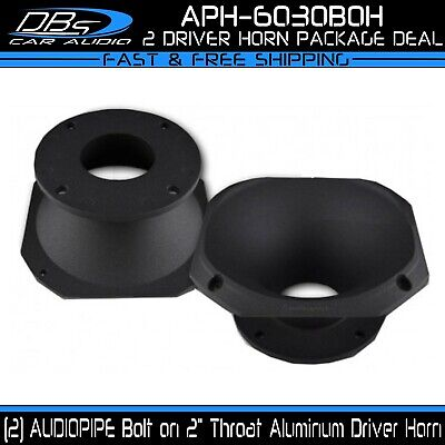 "Aluminum 8/"" 20cm Round Horn 4 Bolt-On 2/"" 52mm Throat Pro Car Audio DJ PA Tweeter"