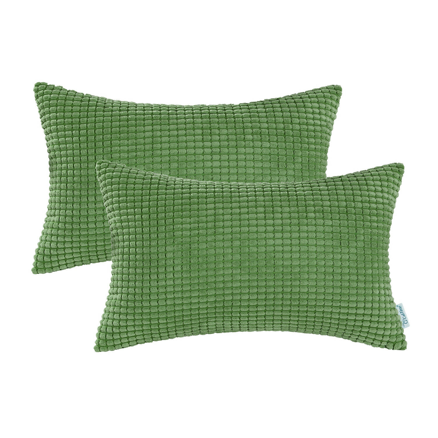 2Pcs Forest Green Throw Pillows Cover Shells Corn Corduroy S