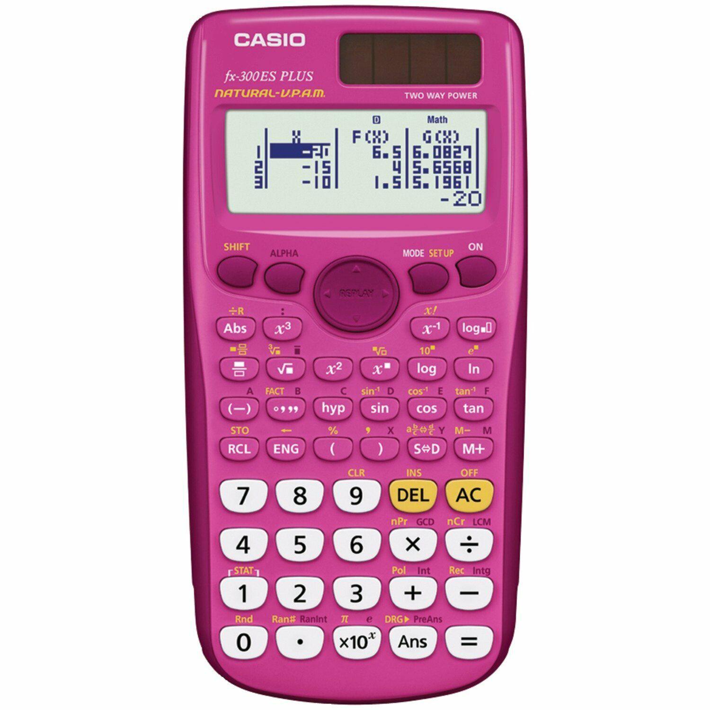Casio FX-300ESPLUS Scientific Calculator-Pink Solar Powered-