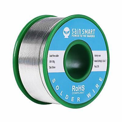 Sainsmart 0.6mm Lead Free Soldering Wire Solder 0.22lbs Roll Sn99 Ag0.3 Cu0.7