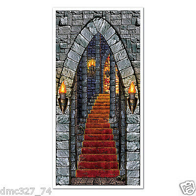 HALLOWEEN Party Decoration Prop SPOOKY CASTLE Dungeon ENTRANCE Wall DOOR - Halloween Door Covers