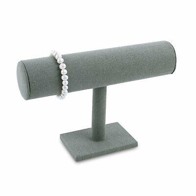 Gray Linen Single T-bar Bracelet Display 8.75 W X 5.25 H