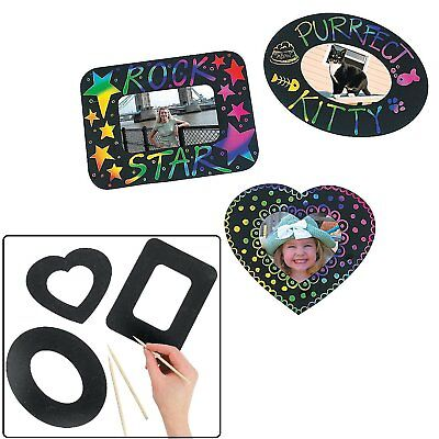 Magic Color Scratch Photo Frame Magnets (12 Pack)