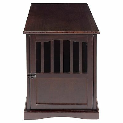 Casual Home 600-24P Solid Wood Pet Crate End Table In Espresso Finish For Dogs