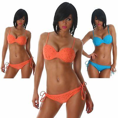 Bandeau Träger Bikini Beachwear Sommer Strand Sexy Bademode Strasssteine Größe
