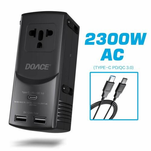 DOACE International Travel Adapter- Universal 2300W AC 28W Power Delivery Type-C