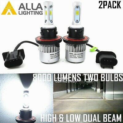 Alla Lighting CSP LED Best Seller H13 Headlight Replacement Bulb,Xenon White
