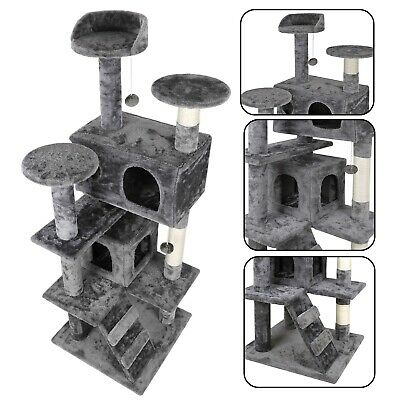 """52"""" STURDY Cat Tree Tower Activity Center Large Playing House Condo For Rest"""