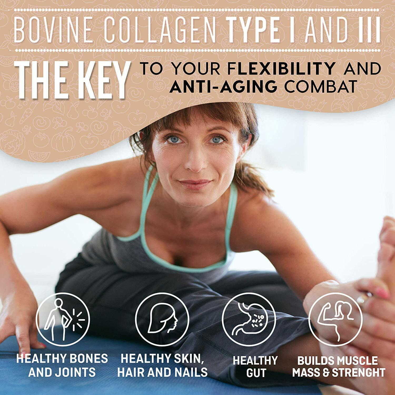 ❤Premium Collagen Peptides Powder Hydrolyzed Anti-Aging Protein 1 LB 1