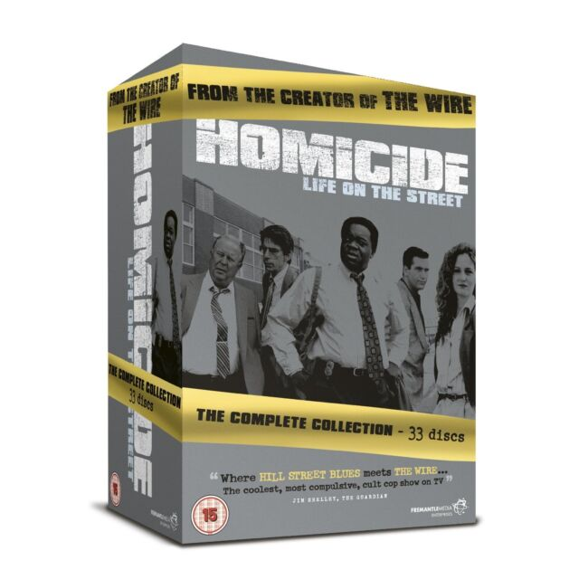 """HOMICIDE LIFE ON THE STREET COMPLETE SERIES 33 DISC DVD BOX SET R4 """"NEW&SEALED"""""""
