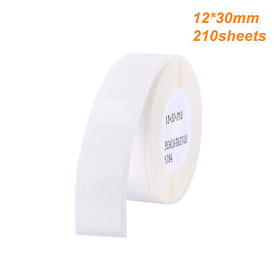 Thermal Printer Printing Label Paper Barcode Waterproof 12x30mm 210 Sheets White