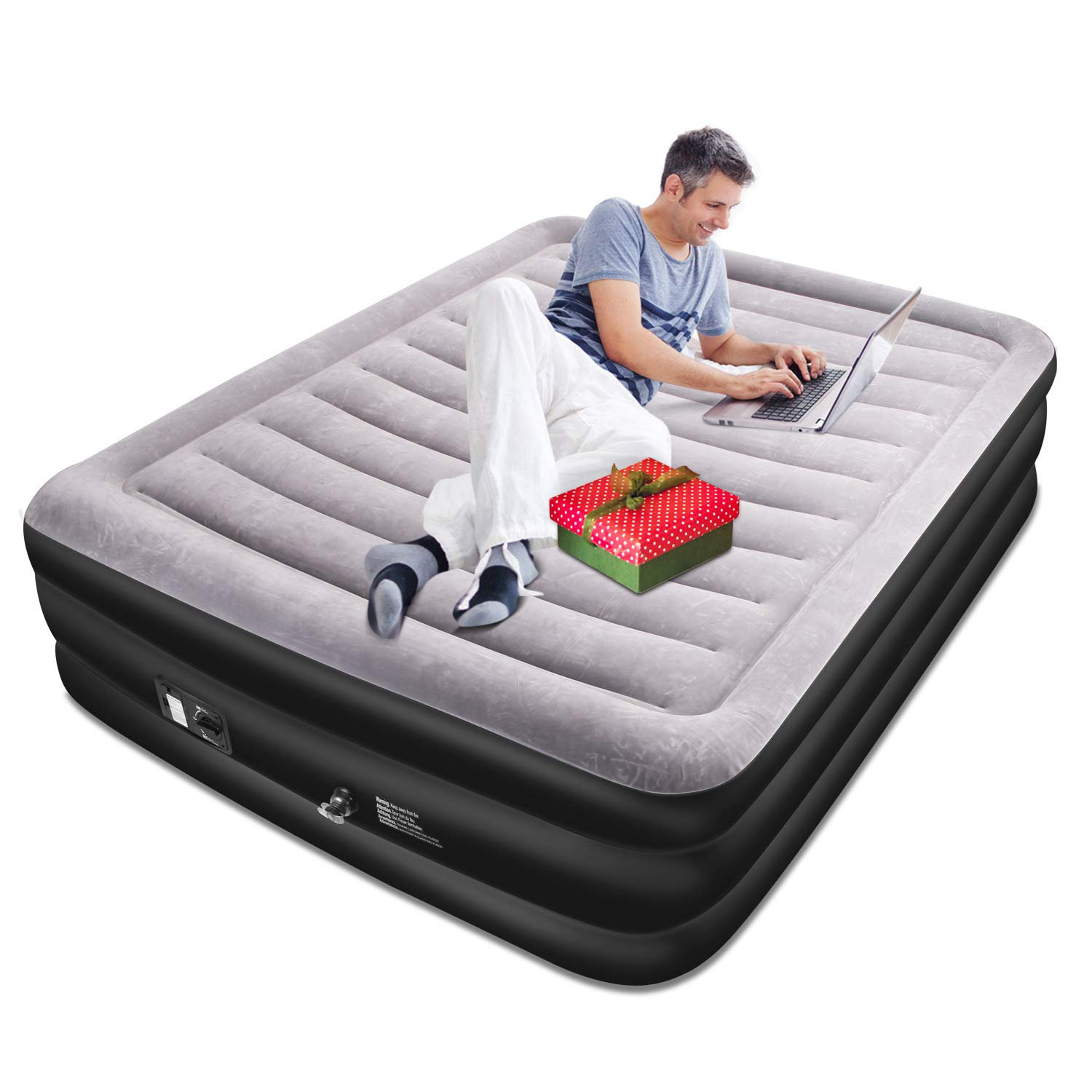 Queen Size Air Mattress with Built-in Electric Pump and Storage Bag High 20in