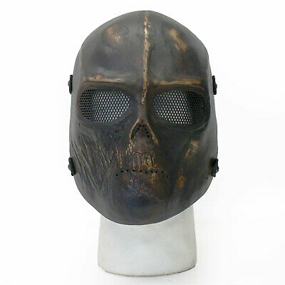 BBTac Airsoft Face Mask Cacique Skull Ghost Recon Dark Gold Halloween - Ghost Recon Halloween Costume
