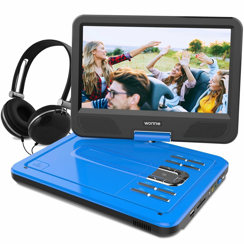 WONNIE 12.5 Inch Portable DVD Player, 4hrs Rechargeable Batt