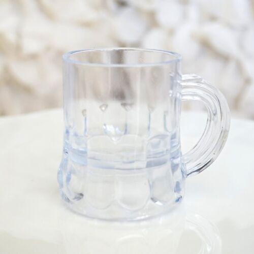 Set of 8 MINI BEER MUGS Shot Glass Plastic Wedding Favor Beerfest Pub USA