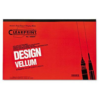 Clearprint Design Vellum Paper 16lb White 11 x 17 50 Sheets/Pad (Design Vellum)