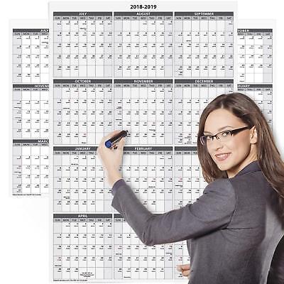 Laminated Jumbo Wall Calendar. Dry Erase Board Large Big Hanging School Office