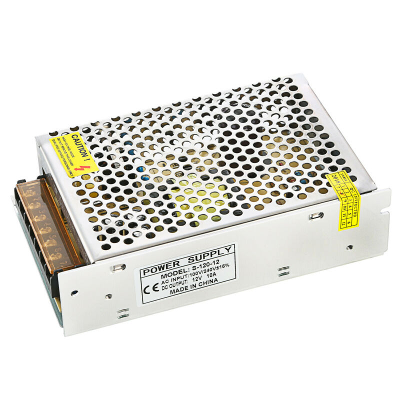 Universal DC 12V 10A 120W Regulated Switching Power Supply For LED Light Strip