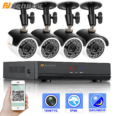 Jennov Ahd 1080N Security System Outdoor 1800Tvl Day Night Vision Cctv Ir Camera