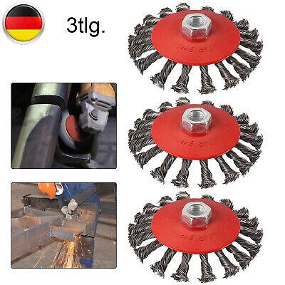 10x Kegelbürste Ø 115 mm gezopft M14 Drahtbürste Scheibenbürste Winkelschleifer