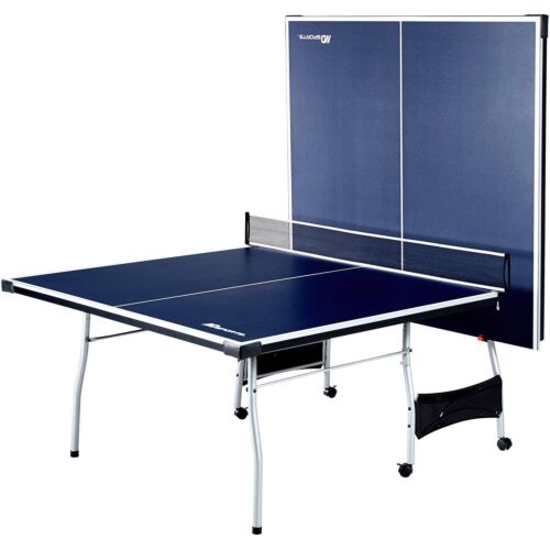 MD Sports Table Tennis Set, Regulation Ping Pong Table with Net, Paddles and Balls (8 Pieces) 1644125