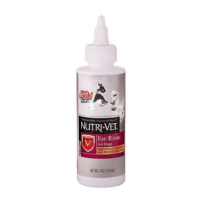 NUTRI VET EYE CLEANSING CLEANING RINSE DOG CAT REMOVES DIRT STAIN. FREE SHIP USA