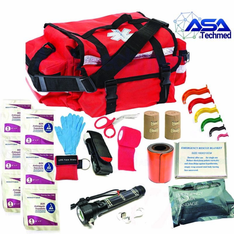 Trauma Bag First Responder Medical Aid EMS Set Emergency Supplies Kit EMT