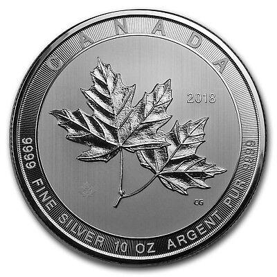 2018 Canada 10 oz Silver $50 Magnificent Maple Leaves BU - SKU#166660
